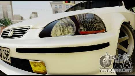 Honda Civic 1.4 Mehmet ALAN para GTA San Andreas vista hacia atrás