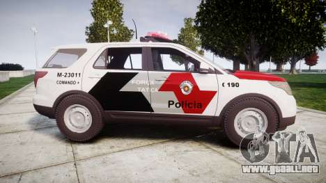 Ford Explorer 2013 Police Forca Tatica [ELS] para GTA 4 left
