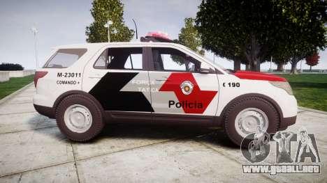Ford Explorer 2013 Police Forca Tatica [ELS] para GTA 4 left