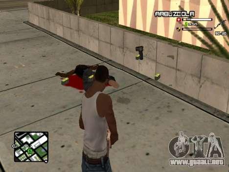 CLEO HUD by SampHack v.20 para GTA San Andreas segunda pantalla