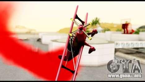 Beta Stuntplane para la visión correcta GTA San Andreas