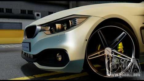 BMW 4-series F32 Coupe 2014 Vossen CV5 V1.0 para GTA San Andreas vista posterior izquierda