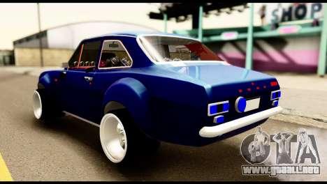 Ford Escort MK1 Modifive para GTA San Andreas left