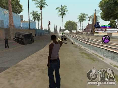 C-HUD Ghetto para GTA San Andreas quinta pantalla