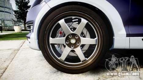 Audi Q7 2009 ABT Sportsline [Update] rims1 para GTA 4 vista hacia atrás