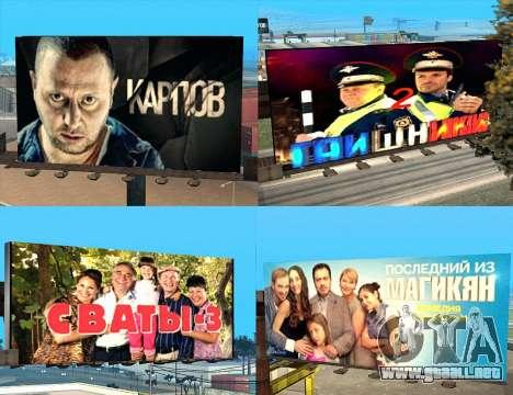 Reemplazo de publicidad (banners) para GTA San Andreas sexta pantalla