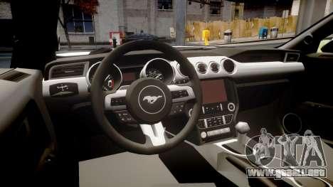 Ford Mustang GT 2015 Custom Kit monster energy para GTA 4 vista interior