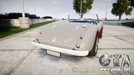 Austin-Healey 100 1959 para GTA 4 Vista posterior izquierda