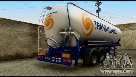 Mercedes-Benz Actros Trailer Transalliance para GTA San Andreas left
