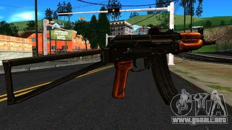 Brillante AKS-74U v1 para GTA San Andreas segunda pantalla