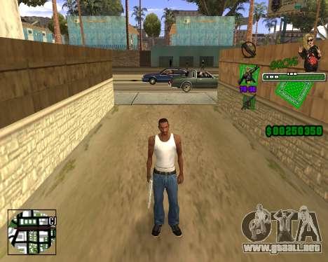 C-HUD Grove St. para GTA San Andreas