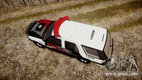 Chevrolet Blazer 2010 Tactical Force [ELS] para GTA 4 visión correcta