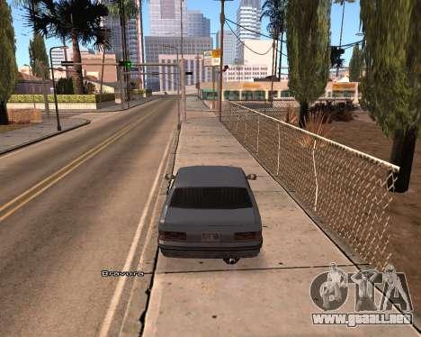 Car Name para GTA San Andreas segunda pantalla