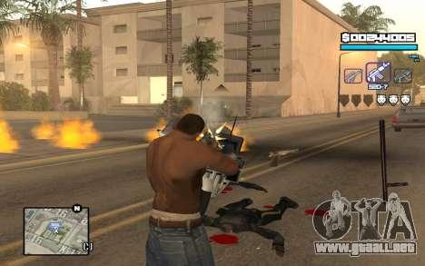 Blue C-HUD para GTA San Andreas tercera pantalla