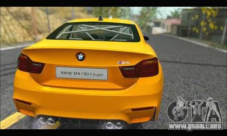 BMW M4 F80 Coupe 1.0 2014 para la visión correcta GTA San Andreas