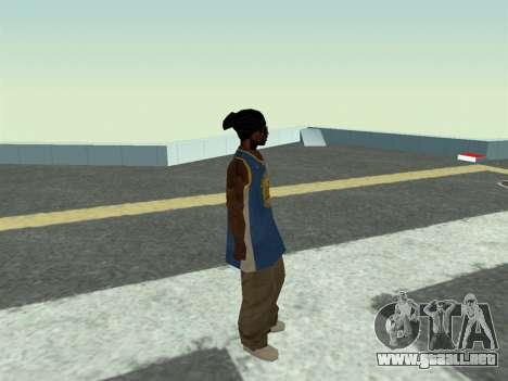 Ballas1 New Skin para GTA San Andreas sucesivamente de pantalla