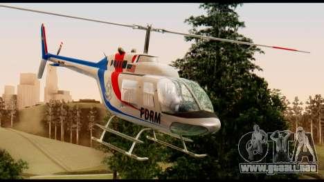 Malaysian Polis Helicopter Eurocopter Squirrel para la visión correcta GTA San Andreas