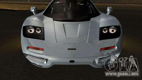 McLaren F1 Autovista para la visión correcta GTA San Andreas