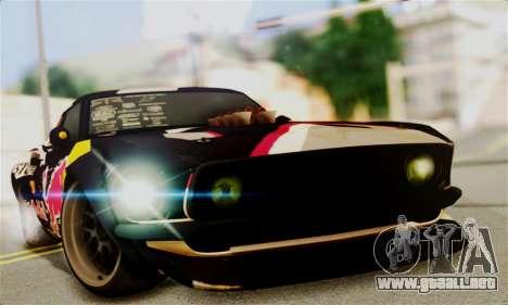 Ford Mustang RTR RedBull para GTA San Andreas vista posterior izquierda
