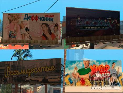 Reemplazo de publicidad (banners) para GTA San Andreas segunda pantalla
