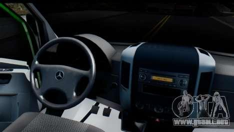 Mercedes-Benz Sprinter De La Banca Privada para GTA San Andreas vista hacia atrás
