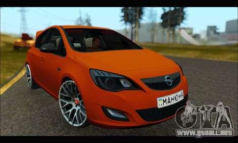 Opel Astra J para GTA San Andreas