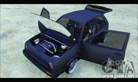 VW Golf MK2 para la visión correcta GTA San Andreas