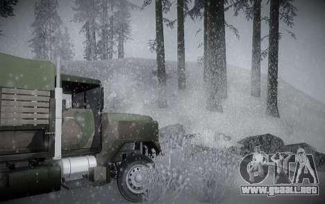 Invierno ENBSeries para GTA San Andreas sexta pantalla
