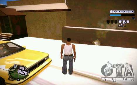 HUD GOSKA para GTA San Andreas sucesivamente de pantalla