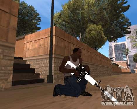 White Chrome Gun Pack para GTA San Andreas octavo de pantalla