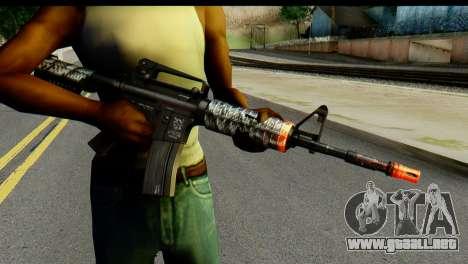 Kill Em All M4 para GTA San Andreas tercera pantalla