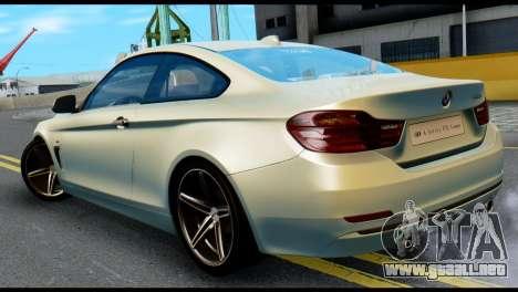 BMW 4-series F32 Coupe 2014 Vossen CV5 V1.0 para GTA San Andreas left