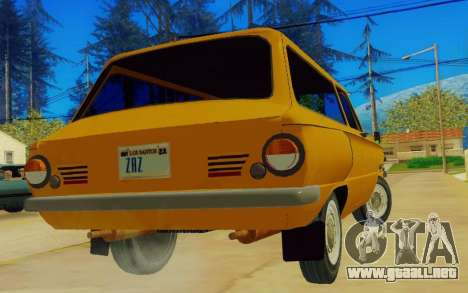ZAZ 968 para GTA San Andreas vista posterior izquierda