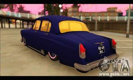 GAZ 21 Volga Resto para GTA San Andreas vista posterior izquierda