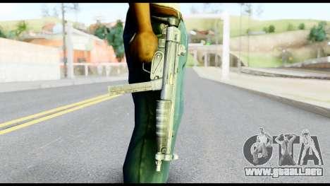 MP5 con la Culata Plegada para GTA San Andreas tercera pantalla