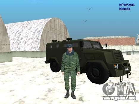 MIC-3924 Blindados Oso para GTA San Andreas vista posterior izquierda