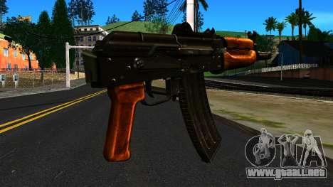 Brillante AKS-74U v2 para GTA San Andreas segunda pantalla