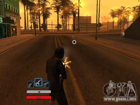 C-HUD by Fawkes (Fix) v2 para GTA San Andreas tercera pantalla