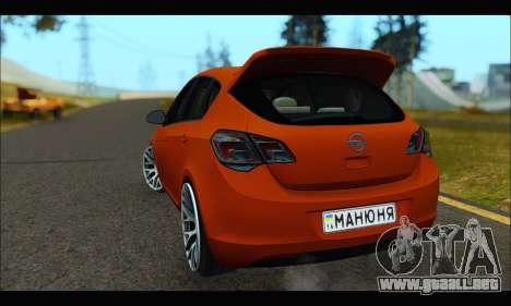 Opel Astra J para la visión correcta GTA San Andreas