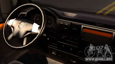 Gacela 3221 de 2007 para GTA San Andreas vista posterior izquierda