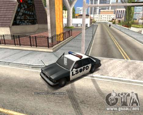 Car Name para GTA San Andreas quinta pantalla