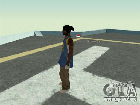 Ballas1 New Skin para GTA San Andreas tercera pantalla