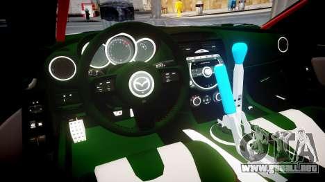 Mazda RX-8 Duck Edition para GTA 4 vista interior