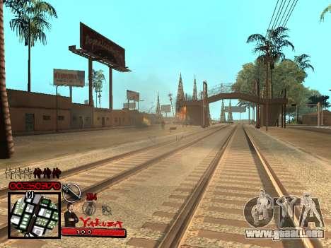 C-HUD Yakuza para GTA San Andreas quinta pantalla