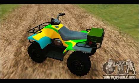 ATV Color Camo Army Edition para GTA San Andreas vista posterior izquierda