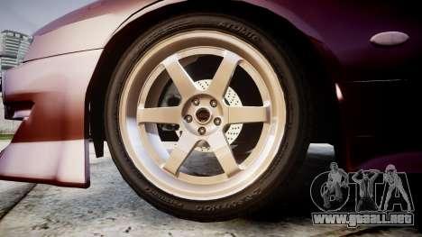 Nissan Silvia S14 Sil80 para GTA 4 vista hacia atrás