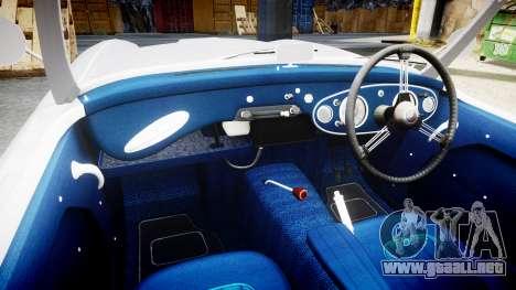 Austin-Healey 100 1959 para GTA 4 vista hacia atrás