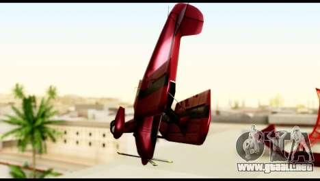 Beta Stuntplane para GTA San Andreas vista hacia atrás