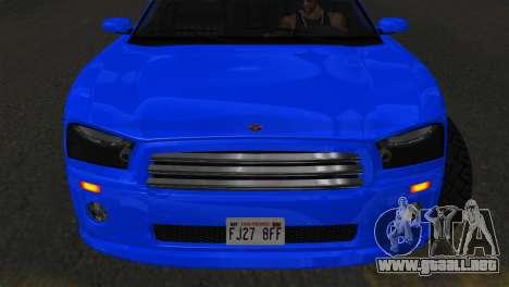 Bravado Buffalo Sedan v1.0 (IVF) para GTA San Andreas vista posterior izquierda