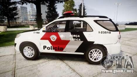 Toyota Hilux SW4 2015 Forca Tatica [ELS] para GTA 4 left